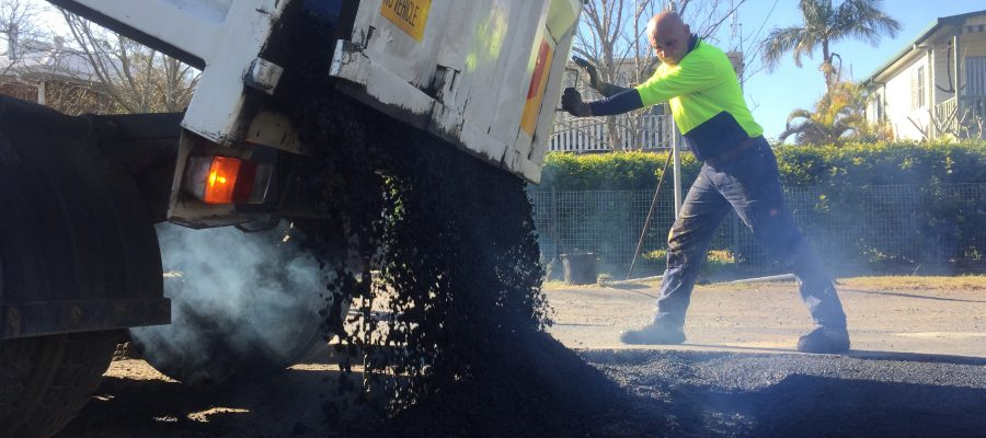 A demonstration of our asphalt paving on the Central Coast